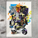 Voir Prints couleur Graffiti par RED – We run the city