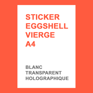 Stickers Eggshell A4 sans impression