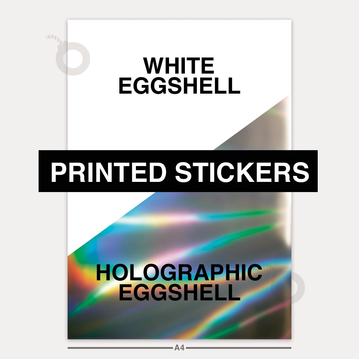 Custom printing on eggshell stickers