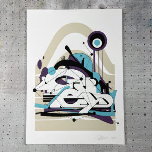Print Graffiti par GREY – White Out