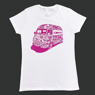 Tshirt graffiti blanc obvious - Estafette rose magenta